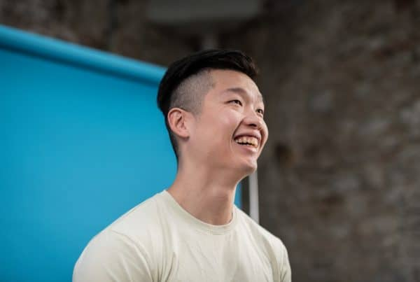 Student physiotherapist, Billy, smiling