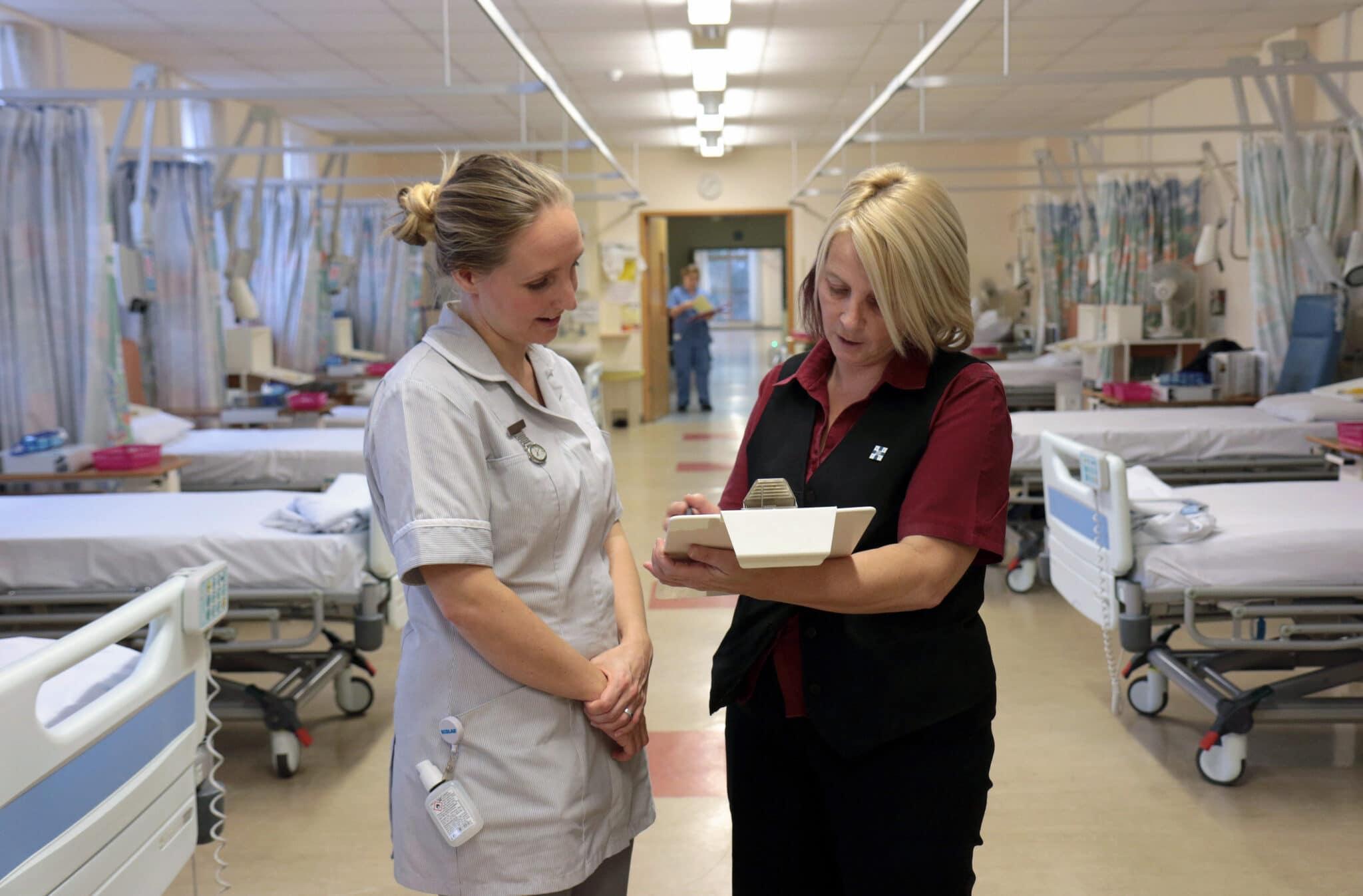 Nursing associate at a hospital ward